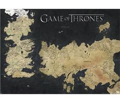 Game Of Thrones Map - XL Poster