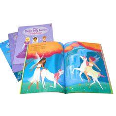 Usborne Sticker Dolly Dressing 4 Books Set Collection, Mermaids, Princesses...
