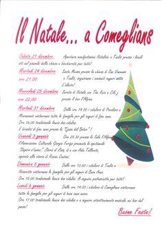 Eventi natalizi a Comeglians Christmas and new year'eve in Comeglians