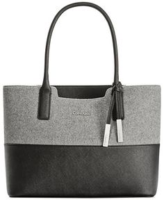 Calvin Klein Wool Tote Handbags Accessories Macy S