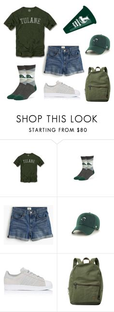 """Gameday Style at Tulane"" by bncollege on Polyvore featuring J.Crew, adidas and Herschel Supply Co."