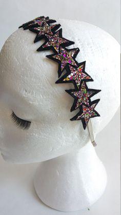 Items similar to Star Rainbow Glitter Headband on Etsy Rainbow Headband, Free Uk, Love Is All, Clever, Glitter, Make It Yourself, Stars, Fabric, People