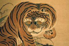 Tiger, scroll painting, British Museum.