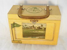 1960s Wood Golf Purse from Delray Beach with by Chaseyblue on Etsy