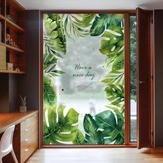Cheap stained glass stickers, Buy Quality glass stickers directly from China cling window film Suppliers: Custom Static Cling Window Film Frosted Opaque Privacy Stained Glass Sticker Home Decor Digital print Green Ripples Window Display Retail, Window Display Design, Glass Sticker Design, Glass Design, Window Art, Window Decals, Window Stickers Privacy, Vitrine Design, Window Graphics