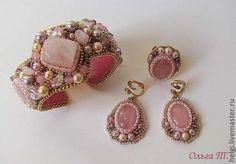 Комплекты украшений ручной работы. Ярмарка Мастеров - ручная работа. Купить Розовые комплекты. Handmade. Бледно-розовый, розовый кварц