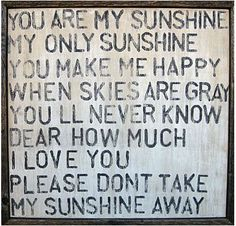 I <3 my sunshine