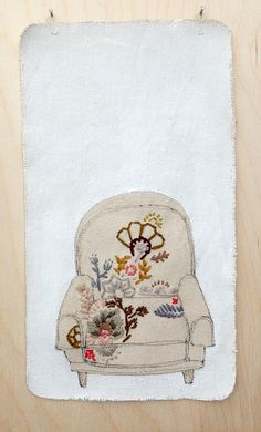 Embroidery by Kate FitzGerrell. Artists on tumblr