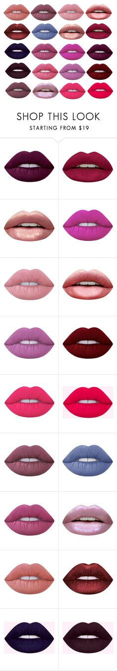 """#lips"" by meghan-white2 on Polyvore featuring Lime Crime and Huda Beauty"
