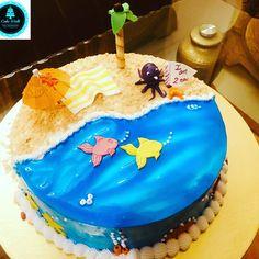 Friends Birthday Cake, Cake Birthday, Beach Themed Cakes, Beach Themes, Icing, Candy, Desserts, Sweet, Tailgate Desserts