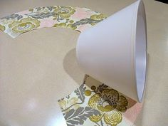 Just Another Hang Up: Lamp Shade Redo... I had been avoiding this shape of shade...so easy!