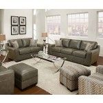 Simmons Upholstery - Cantina Bonded Leather 3 Piece Living Room Set - 9035-SLC  SPECIAL PRICE: $1,404.56