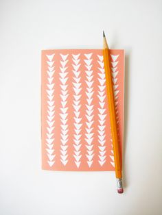 Patterned Notebook in Triangles