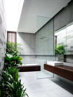 Home Designing — (via Open Tropical Home with Interior Courtyard...