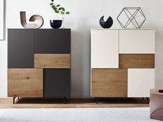 The Incontro sideboard system offers many opening combinations; hinged doors, bottom-hung doors or drawers are available as shown in the photo. The sideboard can stand directly on the floor with transparent methacrylate feet. Sideboard Modern, Modern Buffet, Credenza, Wardrobe Door Designs, Wardrobe Design Bedroom, Modern Wardrobe, Tv Furniture, Furniture Design, Living Room Tv Unit Designs