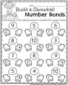 26 best Number Bonds Worksheets images on Pinterest in 2018 | Number ...