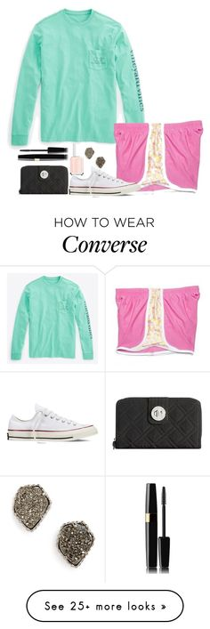 """If ur preppy and you know it clap your hands (comment !!)"" by grace-turnipseed on Polyvore featuring Kendra Scott, Vineyard Vines, Essie, Vera Bradley and Converse"