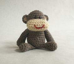 Small Monkey Crochet Plush Toy. $25.00, via Etsy.