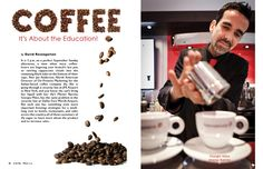 magazine layouts. Cool use of the beans in the headline!