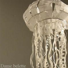 jelli fish, hanging lights, jellyfish lantern, birthday parties, theme parti, sea party, lighting ideas, mermaid birthday, underwater party