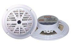 "Pyle White 5.25"" 100 Watt Marine/Boat Audio Stereo Pair of Speakers - http://electronics.goshoppins.com/vehicle-electronics-gps/pyle-white-5-25-100-watt-marineboat-audio-stereo-pair-of-speakers/"