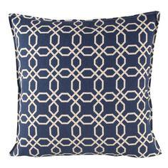 HICKS and HICKS Indigo Blue lattice cushion - Hicks & Hicks