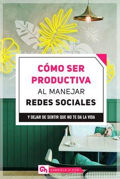 SER PRODUCTIVA EN REDES SOCIALES #productividad #organizacion #redessociales Lead Generation, La Red, Start Ups, Entrepreneurship, Instagram, Tips, Youtube, Socialism, Home