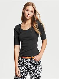 Elbow-Sleeve Timeless Tee -- use coral tee for pattern