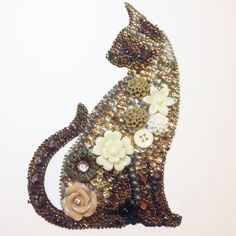 Siamese Cat Button Art / mixed Media. Do they care about the car but nice concept