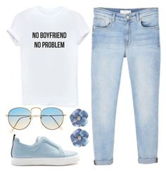 """""""no problem"""" by joslynaurora on Polyvore featuring Pierre Hardy, MANGO, Blue, sneakers and goingout"""