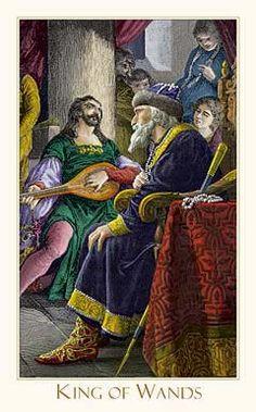 Victorian Romantic Tarot,The King of Wands