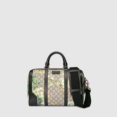 Shop the Gucci Official Website. Duffle, Boston Bag, Dress For Success, Gucci Handbags, Black Nylons, Shoulder Pads, Leather Handle, Diaper Bag, Closets