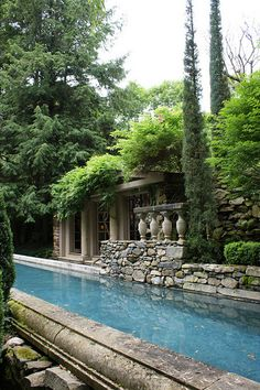 Ahhhhh, what a cool looking lap pool in such a serene formal garden!  Michael Trapp