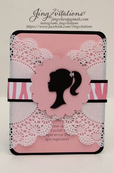 barbie doily invitations