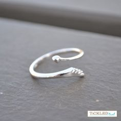 Heart Arrow Wrap Sterling Silver Ring – Tickled Teal