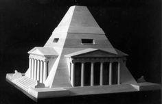 Architekturmodelle von Pyramiden
