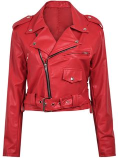 Shop Red Long Sleeve Zipper Crop PU Jacket online. Sheinside offers Red Long Sleeve Zipper Crop PU Jacket & more to fit your fashionable needs. Free Shipping Worldwide!