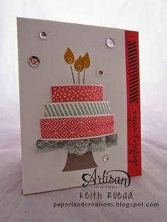 PAPERLAND CREATIONS: ARTISAN BLOG HOP BUILD A BIRTHDAY