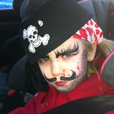 Another Pirate face painting idea.