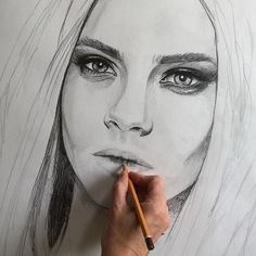 Repost from @ellenclaireb  It doesn't look like her anymore does it? Still a lot of work to be done ! #babe #model #fashionmodel #drawing #wip #sexy #brows #eyes #ellenclaire  #ellenclaireb #pencildrawing #pencil #cara #fashioniustration #illustration #catwalk #naughty #beauty #supermodel @caradelevingne   FOLLOW @ladyterezie & TAG your artworks #LADYTEREZIE to be FEATURED!  HOT TIPS CLICK link in my profile   via http://instagram.com/ladyterezie