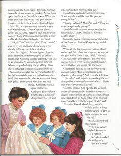 """American Girl Magazine - January 1993/February 1993 Issue - Page 14 (Part 4 of """"A Most Exceptional Bridesmaid"""" - A """"Samantha Parkington"""" Story by Valerie Tripp for American Girl)"""