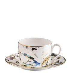 76d0498597 Homewares: Cups & Saucers Roberto Cavalli Home Garden Birds Teacup and  Saucer (15cm)
