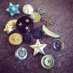 Shoot for the moon and reach for the stars buttons from Ruby Mea Jewelry on FACEBOOK.