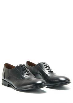 Novel Shoe in Black Leather #hopesthlm #autumnwinter2014