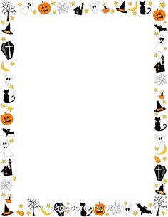 Free Halloween Borders: Clip Art, Page Borders, and Vector Graphics Theme Halloween, Halloween Clipart, Fall Halloween, Halloween Invitations, Halloween Borders, Halloween Frames, Borders For Paper, Borders And Frames, Schneemann Party