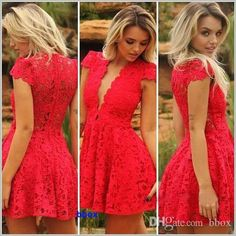 2015 New Sexy Nightclub Dress Deep V-neck Backless Lace Dress Gowns Red Summer Party Dress Ladies Night Club Clothes from Bbox,$8.29 | DHgate.com