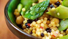 Asparagus Couscous w/ Chickpeas & Almonds   #vegan