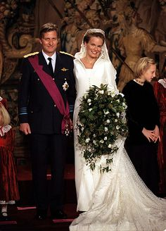 Belgium's future king, Crown Prince Philippe, married his beautiful bride Mathilde in a winter wedding on December 4, 1999.