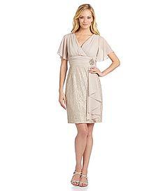 Jessica Howard FlutterSleeve Ruffle Lace Dress #Dillards