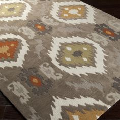 Hand-tufted Ikat Taupe Stone Rug (8' x 11') | Overstock.com
